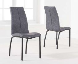 Nadia Antique Grey Dining Chair (Pairs)