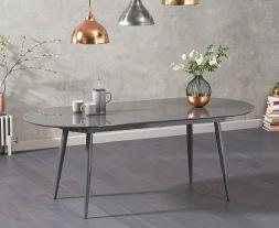 Opel Extending Grey High Gloss Dining Table