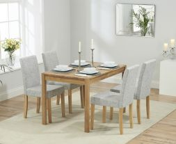 Promo 120cm Dining Set With 4 Maiya Chairs