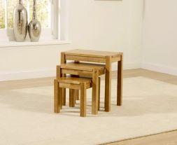 Promo Oak 3 Piece Nest Tables