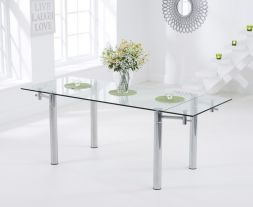 Grenada 140 - 200cm Extending Glass Dining Table