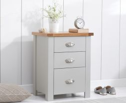 Sandringham Oak And Grey Tall 3 Drawer Nightstand
