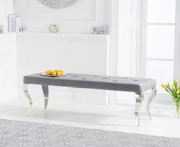 Franca 150cm grey velvet bench