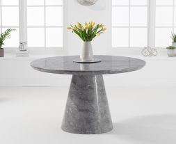 Ramiro 130cm Round Grey Marble Dining Table