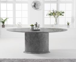 Cooper 200cm Oval Grey Marble Dining Table