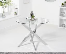 Daytona 95cm Round Glass Dining Table