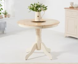 Elstree 90cm Cream/Oak Dining Table