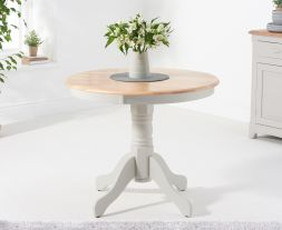 Elstree 90cm Grey/Oak Table