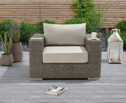 Columbine Grey Wicker Garden Chair
