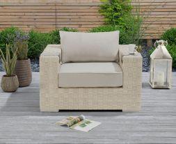 Columbine Ivory/Cream Wicker Garden Chair