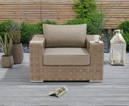 Columbine Taupe/Brown Wicker Garden Chair