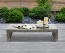 Columbine Grey Wicker Garden Coffee Table