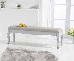 Sienna grey bench with grey padded seat (to go with the 175cm grey table)