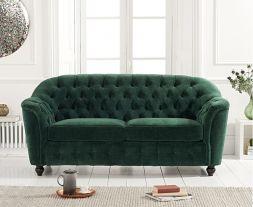 Carrie Green Velvet 2 Seater Sofa