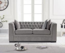 Pauletta Grey Linen 2 Seater Sofa