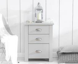 Sandringham Grey Tall 3 Drawer Nightstand