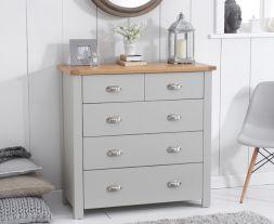Sandringham Oak And Grey 3 + 2 Drawer Chest