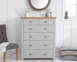 Sandringham Oak And Grey 4 + 2 Drawer Chest