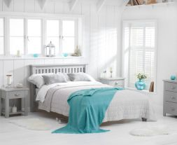 Sandringham Grey Double Bed Frame