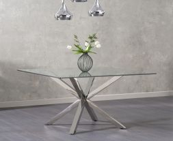 Remus Square Glass Dining Table