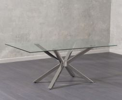 Renato 200cm Glass Dining Table