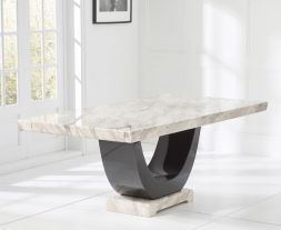 Rivilino Cream 200cm Marble Dining Table