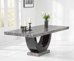 Rivilino Dark Grey 200cm Marble Dining Table