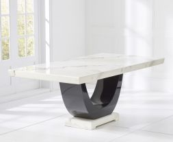 Rivilino White 200cm Marble Dining Table