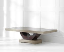 Rivilino Brown Marble Coffee Table