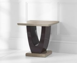 Rivilino Brown Marble Lamp Table