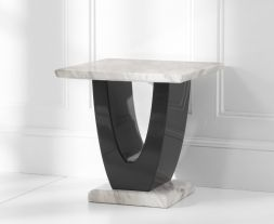 Rivilino Cream Marble Lamp Table