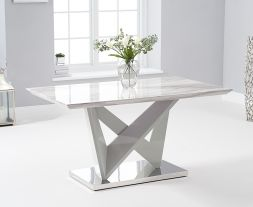 Rosario 150cm High Gloss Light Grey Dining Table