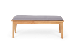 Seth Grey and Oak Large Dining Bench