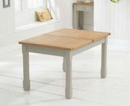 Sandringham 130cm - 186cm Oak & Grey Extending Dining Table