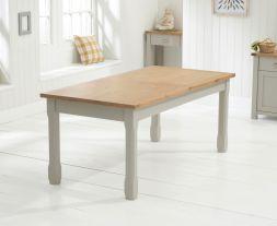Sandringham 180cm - 270cm Oak & Grey Extending Dining Table
