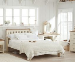 Sandringham Oak And Cream King Size Bed Frame