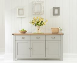 Sandringham 3 Door 3 Drawer Oak & Grey Sideboard