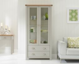 Sandringham Oak & Grey Display Unit