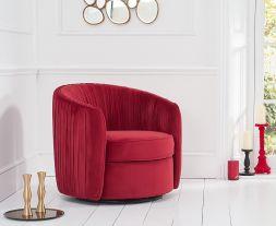 Sarana Russett Velvet Swivel Chair