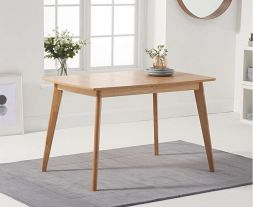 Seth Oak 120cm Ext Dining Table