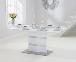 Springfield High Gloss 160cm White Dining Table