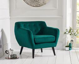 Tina Green Velvet Accent Chair