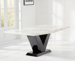 Valencie White 200cm Marble Dining Table