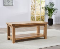 York Oak Coffee Table With Storage Shelf