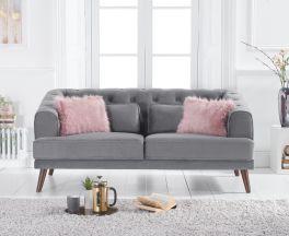 Destiny Grey Velvet 2 Seater Sofa