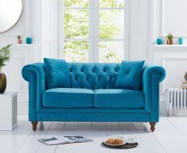 Montrose Teal Plush 2 Seater Sofa