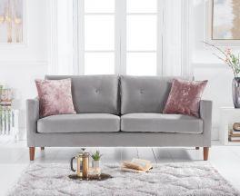 Carrie Grey Velvet 3 Seater Sofa