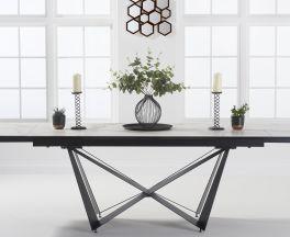 Benjamin 180cm Extending White Ceramic Dining Table