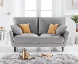 Caracus Grey Velvet 2 Seater Sofa
