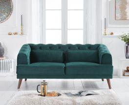 Destiny Green Velvet 2 Seater Sofa